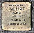 Stolperstein Friedrichstr 14 (Kreuz) Max Laske.jpg