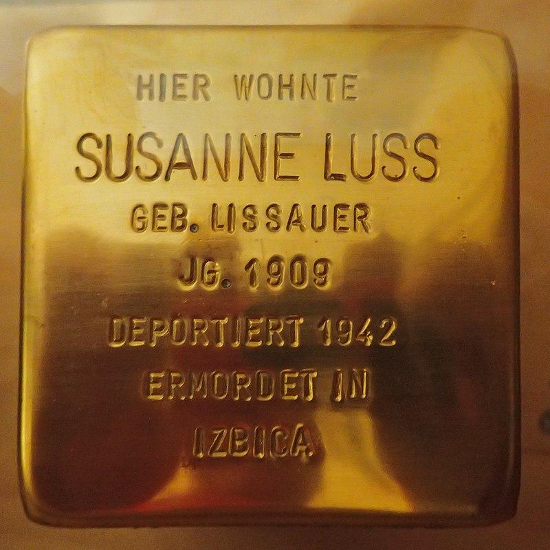Stolperstein für Susanne Luss