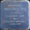 Stumbling block for Margarete Pins (Peterstrasse 26)