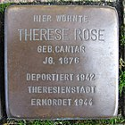 Stolperstein für Therese Rose