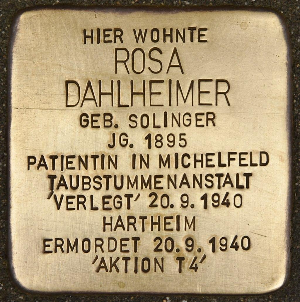 Stolperstein für Rosa Dahlheimer (Miltenberg).jpg