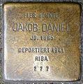 Stolpersteine Krefeld, Jakob Daniel (Lindenstraße 9).jpg