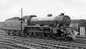 LNER Class B17 - B17/4 No. 61661 'Sheffield Wednesday' at Stratford 12 June 1948.