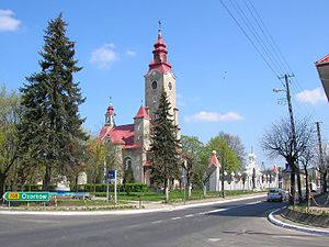 Stryków - Church in the centre of the town