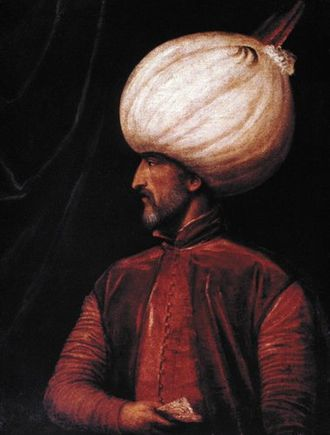 Italian War of 1542–1546 - Suleiman the Magnificent (painting by a member of the Venetian school, 16th century)