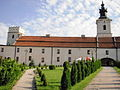 Sulejów, Brama Krakowska, XII, XIV, XVIII po lewej baszta attykowa.JPG