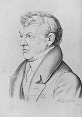 Sulpiz BoisseréeZeichnung von Peter von Cornelius (Quelle: Wikimedia)