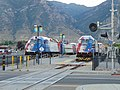 Sunday morning FrontRunner trains at Provo station, Jun 16.jpg
