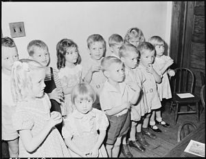 History of Methodism in the United States - Sunday school at a Methodist church in Kentucky, 1946