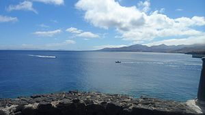 Lanzarote - Overlooking the harbour in Puerto del Carmen's Old Town