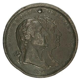 Lafayette dollar - Peter Krider's Yorktown Centennial medal (1881)