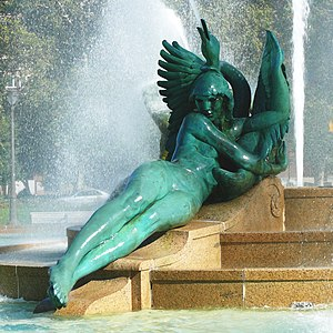 Swann Memorial Fountain - Image: Swann Fountain 27527 2