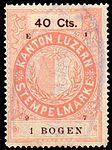 Switzerland Lucerne 1897 revenue 6 40c - 55 - E 1 97.jpg