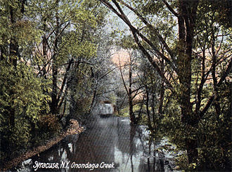 Onondaga Creek - Onondaga Creek about 1900