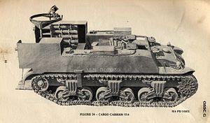 M12 Gun Motor Carriage - T14/M30 cargo carrier
