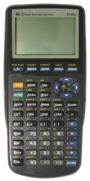 83 (number) - TI-83 calculator