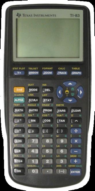 TI-83 series - TI-83, original design - black