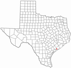 Location of Palacios, Texas