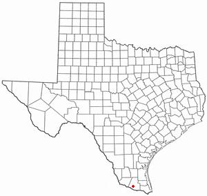 Palmhurst, Texas - Image: TX Map doton Palmhurst