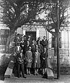 Tableau, men, women, stairs Fortepan 22108.jpg