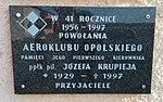 Tablica pamiątkowa pamięci ppłk. pil.Józefa Krupieja, Polska Nowa Wieś 2018.10.10.jpg