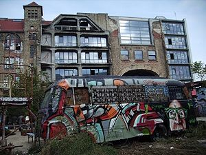 Back of Tacheles in Berlin