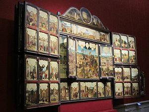 Winged altarpiece - 1540 Gotha panel altar with 157 individual scenes, displayed in the Ducal Museum in Gotha