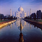 The Taj Mahal, the most famed monument of the Mughal empire
