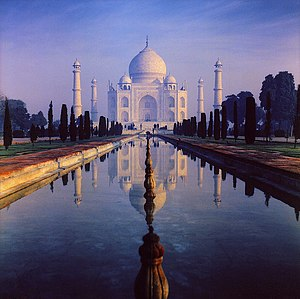 The Taj Mahal was built by Muslim rulers of th...