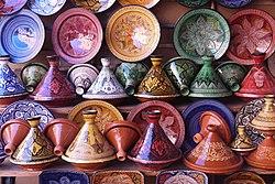 Tajines in a pottery shop in Morocco.jpg