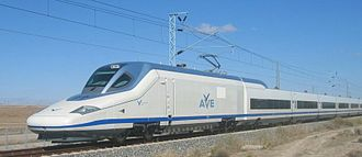 Talgo - Talgo 350 train as used for AVE high-speed services between Madrid - Valencia