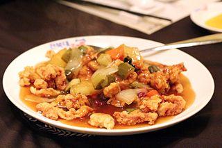 Tangsuyuk Korean Chinese sweet and sour meat dish