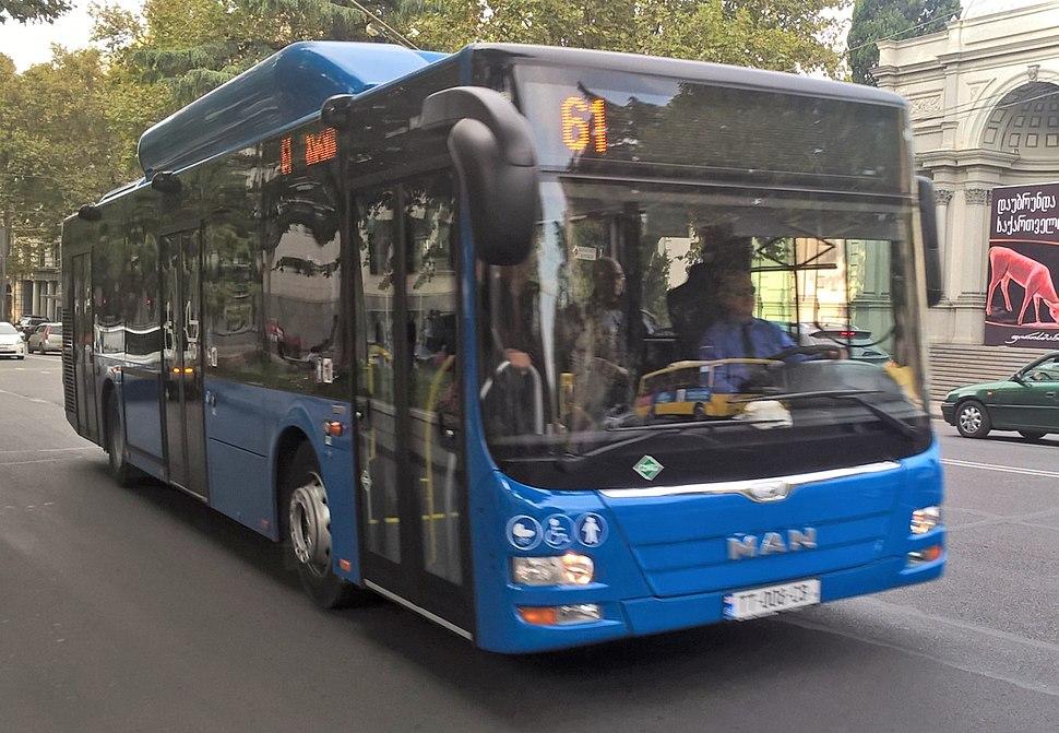 Tbilisi's new city bus - MAN Lion's city A21 CNG