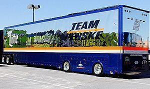 Team Penske - Team Penske No. 2 hauler set for parade down Las Vegas Strip – 2015