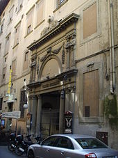 Entrance of Teatro del Cocomero in Florence (Source: Wikimedia)