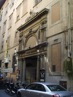 Entrance of Teatro del Cocomero in Florence Teatro niccolini 11.JPG