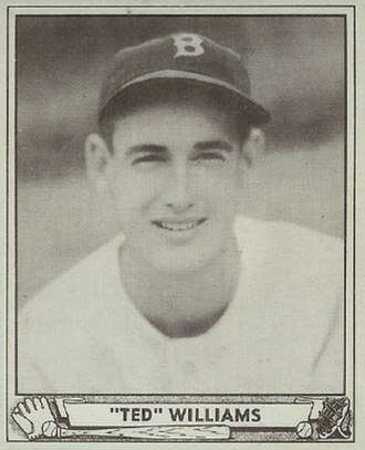 Ted Williams - Williams' 1940 Play Ball baseball card