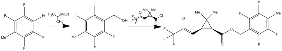 Tefluthrin synthesis 2.png