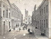 Temple street, Swansea, showing the bank, theatre, post office &c
