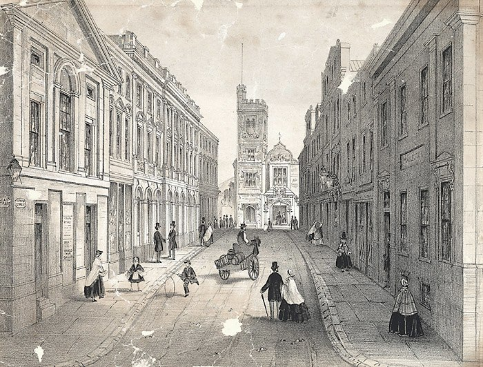 Temple street, Swansea, showing the bank, theatre, post office &c.jpeg
