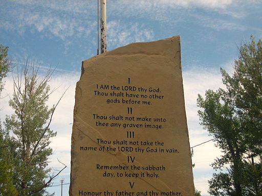 Ten Commandments monument in Springer, NM IMG 0544