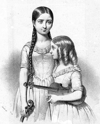 Milanollo - Teresa and Maria Milanollo, the 19th-century Italian child prodigies whose violin-playing took Europe by storm and inspired the name of the Coldstream Guards regimental march and a theatre in their native Savigliano.