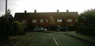 Ainsty, Wetherby - Image: Terraced houses on Ainsty Crescent