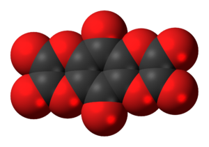 Tetrahydroxy-1,4-benzoquinone bisoxalate - Image: Tetrahydroxybenzoqui none bisoxalate 3D spacefill