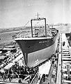 Tewaterlating tanker Reza Shah the Great bij Verolme (ook 97156 tm 97167), Bestanddeelnr 909-7128.jpg