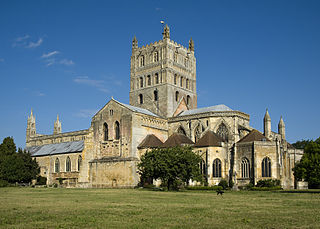Tewkesbury Abbey Church in England