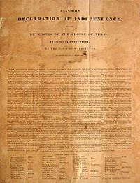 Texas Declaration of Independence - Wikipedia, the free encyclopedia