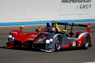 6 Hours of Castellet - Image: The 7 Audi R15 TDI Plus of Audi Sport Team Joest driven by Rinaldo Capello and Allan Mc Nish at 8 heures du Castellet 2010