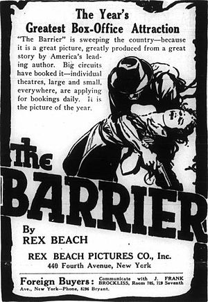 The Barrier (1917 film) - Advertisement