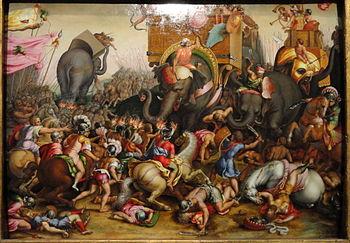 The Battle of Zama, after 1567, after Cornelis Cort, Netherlandish - Art Institute of Chicago - DSC09738.JPG